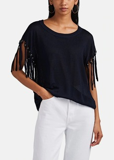 A.L.C. Women's Lincoln Fringe-Trimmed Knit Top