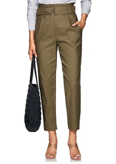 A.L.C. Women's Linen-Blend Tapered Belted Trousers