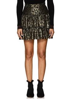 A.L.C. Women's Logan Leopard-Pattern Silk-Blend Skirt