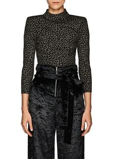 A.L.C. Women's Maeve Leopard-Pattern Jacquard Top