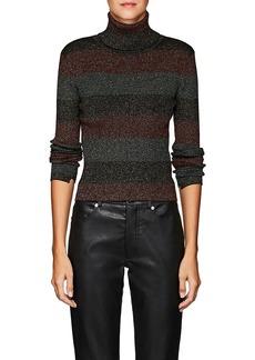 A.L.C. Women's Mariel Metallic Striped Wool-Blend Turtleneck Sweater