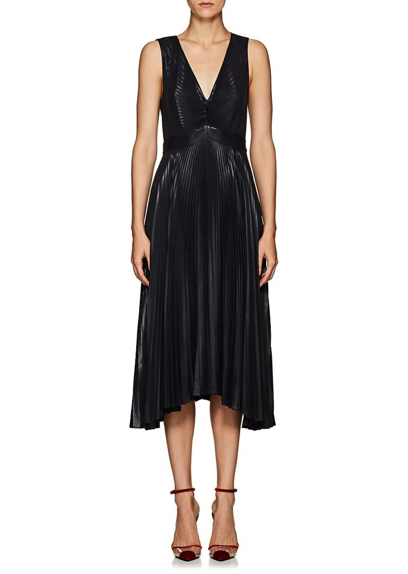 A.L.C. Women's Marisol Pleated Lamé Dress