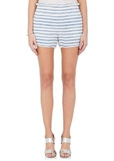 A.L.C. Women's Mark Striped Silk Shorts