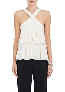A.L.C. Women's Miro Ruffle Silk Sleeveless Blouse