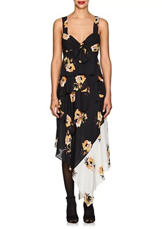 A.L.C. Women's Natalia Floral Silk Knotted Dress
