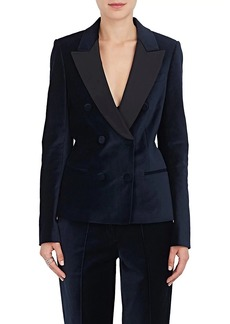 A.L.C. Women's Stanton Velvet Double-Breasted Blazer