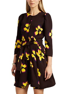 A.L.C. Women's Stella Floral Silk Belted Dress