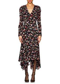A.L.C. Women's Tianna Silk Crepe Wrap Dress