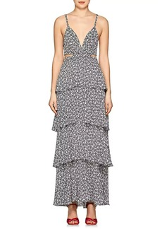 A.L.C. Women's Titus Floral Silk Maxi Dress