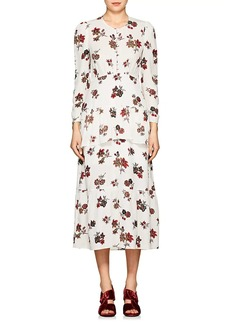 A.L.C. Women's Zandra Floral Silk Crepe Dress