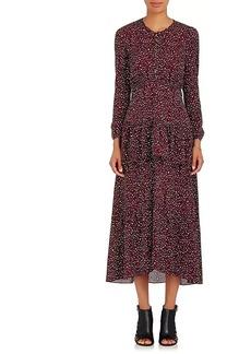 A.L.C. Women's Zandra Leopard-Print Silk Midi-Dress