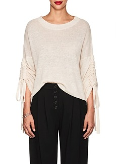 A.L.C. Women's Zora Linen-Blend Drawstring-Sleeve Sweater