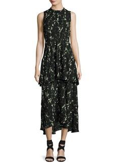 A.L.C. Wylon Sleeveless Printed Silk Maxi Dress