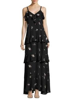 A.L.C. Zadena Floral-Print Silk Maxi Dress