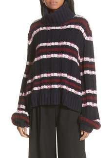 A.L.C. Zaira Stripe Turtleneck Sweater