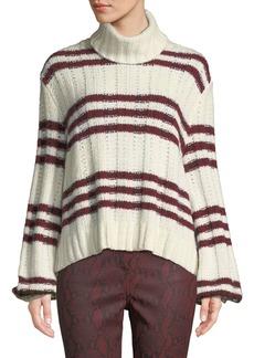 A.L.C. Zaira Striped Turtleneck Sweater