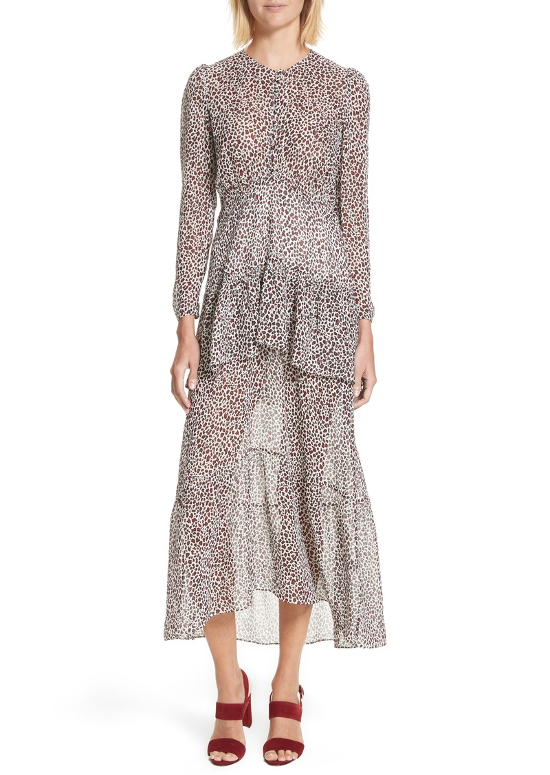 A.L.C. A.L.C. Zandra Leopard Print Silk Midi Dress | Dresses