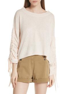 A.L.C. Zora Linen, Wool, Silk & Cashmere Sweater