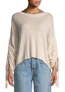 A.L.C. Zora Linen/Cashmere-Blend Drawstring-Sleeve Sweater