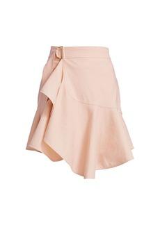 A.L.C. Amalie Linen-Denim Wrap Skirt
