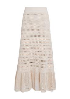 A.L.C. Amaya Crochet Flounce Midi Skirt