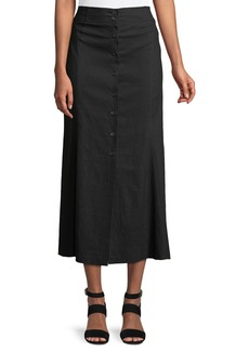 A.L.C. Amelie Button-Front Midi Skirt