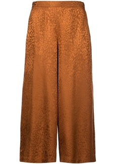 A.L.C. animal print cropped trousers