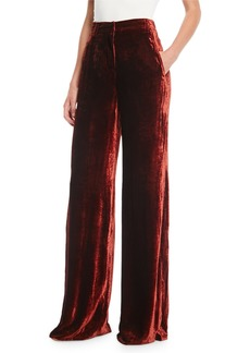 A.L.C. Ashbury Wide-Leg Velvet Pants