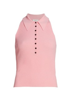 A.L.C. Asher Sleeveless Knit Polo Top