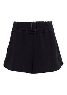 A.L.C. Auburn Belted Crepe Shorts