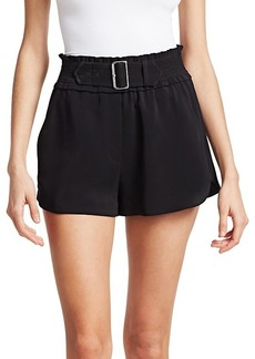 A.L.C. Auburn Buckle Crepe Shorts