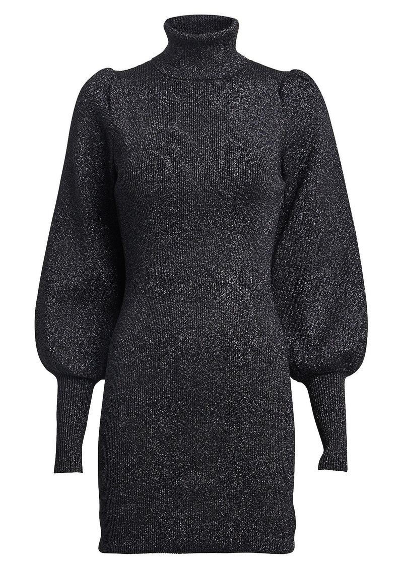 A.L.C. Audrey Lurex Turtleneck Sweater Dress