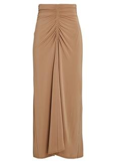 A.L.C. Aurelie Ruched Jersey Midi Skirt