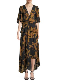 A.L.C. Avi Floral-Print Silk Maxi Dress