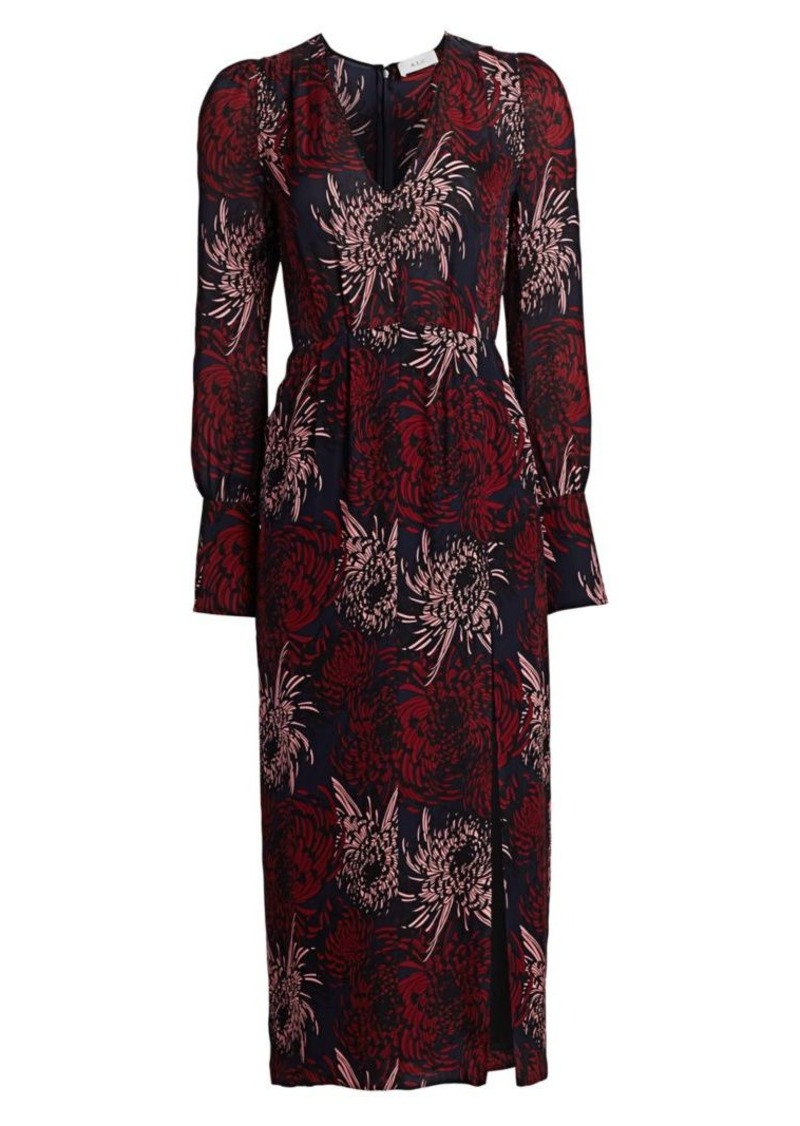 A.L.C. Bailey Floral Silk Midi Dress