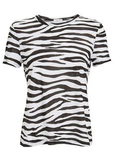 A.L.C. Bambina Zebra Jersey T-Shirt