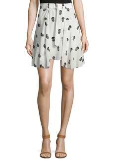 A.L.C. Brien Draped Silk Dahlia Skirt