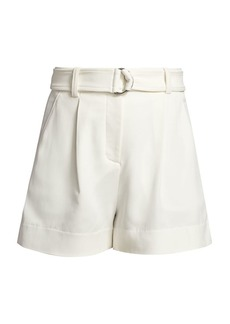 A.L.C. Bronson Crepe Belted Shorts