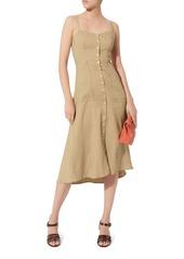 A.L.C. Button Front Midi Dress