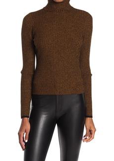 A.L.C. Carey Ribbed Wool Blend Turtleneck Sweater