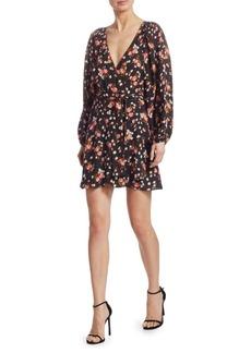 A.L.C. Carlo Silk Floral Wrap Dress