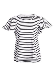 A.L.C. Carrie Flutter Sleeve Striped Tee