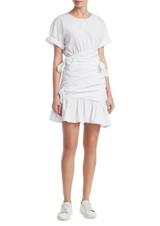 A.L.C. Cassian Ruched Tie Shirtdress