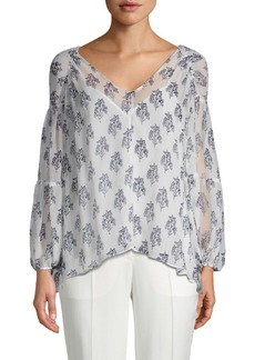 A.L.C. Chantal Floral Silk Blouse