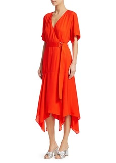 A.L.C. Claire Silk Wrap Dress