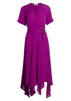 A.L.C. Claire Silk Wrap Dress