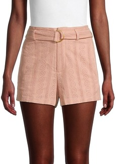 A.L.C. Conley Belted Eyelet Shorts