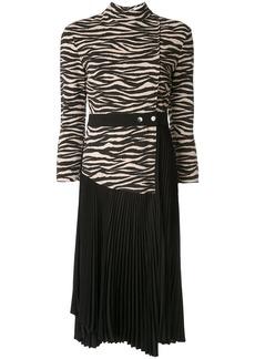 A.L.C. contrast zebra print dress