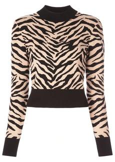 A.L.C. cropped zebra print sweater