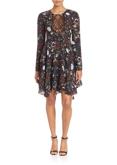 A.L.C. Cynthia Fit & Flare Silk Dress
